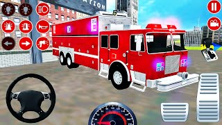 Real Fire Truck Driving Simulator 2020 - New Fire Fighting Fireman's Daily Job - Android GamePlay #4 screenshot 2