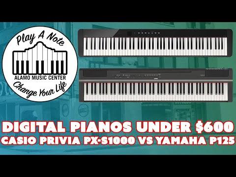 Casio Privia PX-S1000 vs Yamaha P125