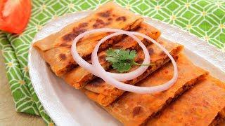 Chicken Keema Paratha Recipe - How To Make Kheema Paratha By Archana - Indian Street Food