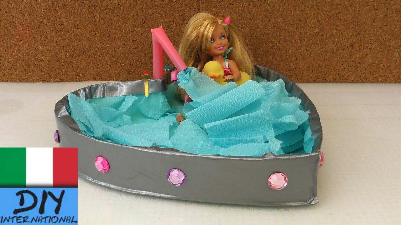 Mobili DIY  come costruire una vasca da bagno per Barbie  YouTube