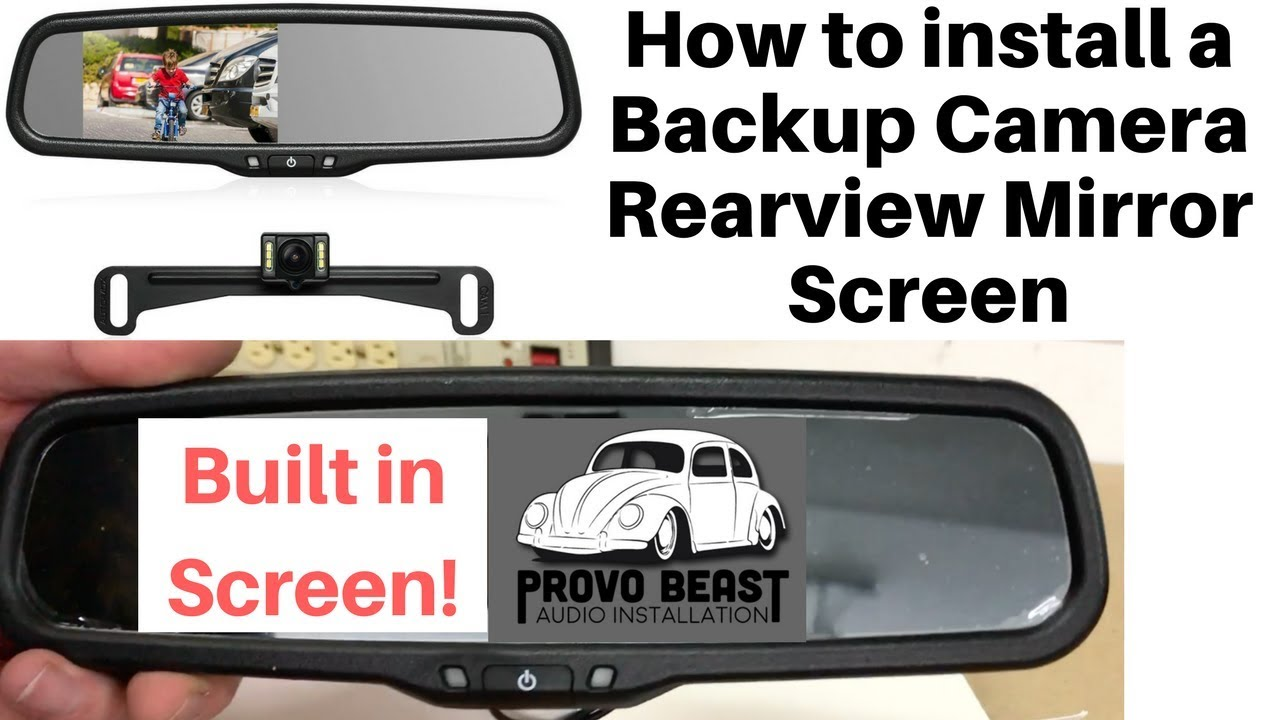 AUTO-VOX Cam 6 Rear Reverse Backup Camera License Plate Parking Rearview System