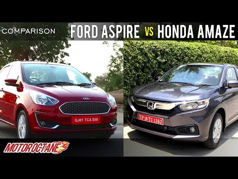 Ford Aspire 2018 vs Honda Amaze 2018 Comparison | Hindi | MotorOctane