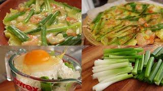 새우 계란 파전을 만들어봤어요  | Shrimp Egg…