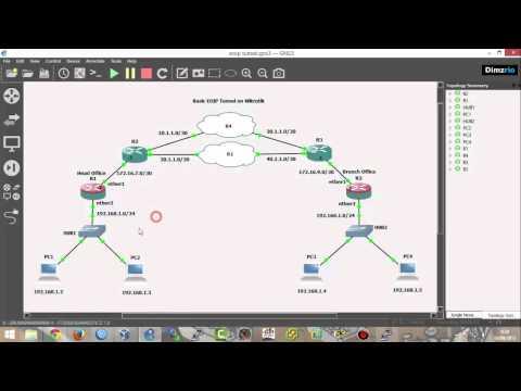 Lab 11] EoIP Tunnel on Mikrotik RouterOS - YouTube