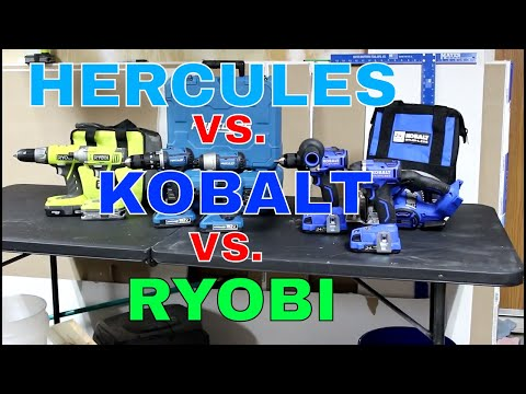 Hercules 20v  vs Kobalt 24v vs ryobi 18v BATTLE OF THE STORE BRANDS!! Part 1