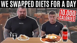 I swapped diets with the WORLD'S STRONGEST MAN   ft. Eddie Hall *10,000 CALORIES*