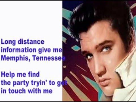MEMPHIS TENNESSEE-Elvis Cover With Lyrics (Pattarasila59)