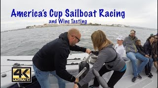 RACING AN AMERICA'S CUP SAILBOAT AND TASTING WINE! - Lazy Gecko VLOG 68 thumbnail