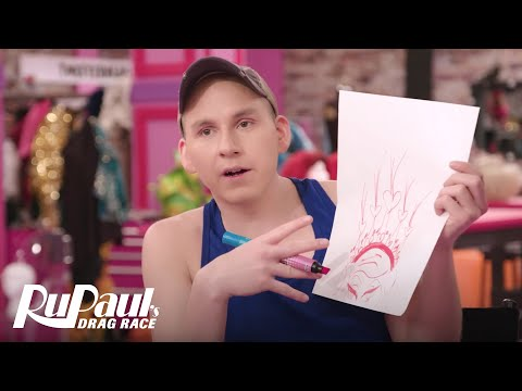 Trixie Mattel Draws Her Perfect Crown | RuPaul's Drag All Stars 3
