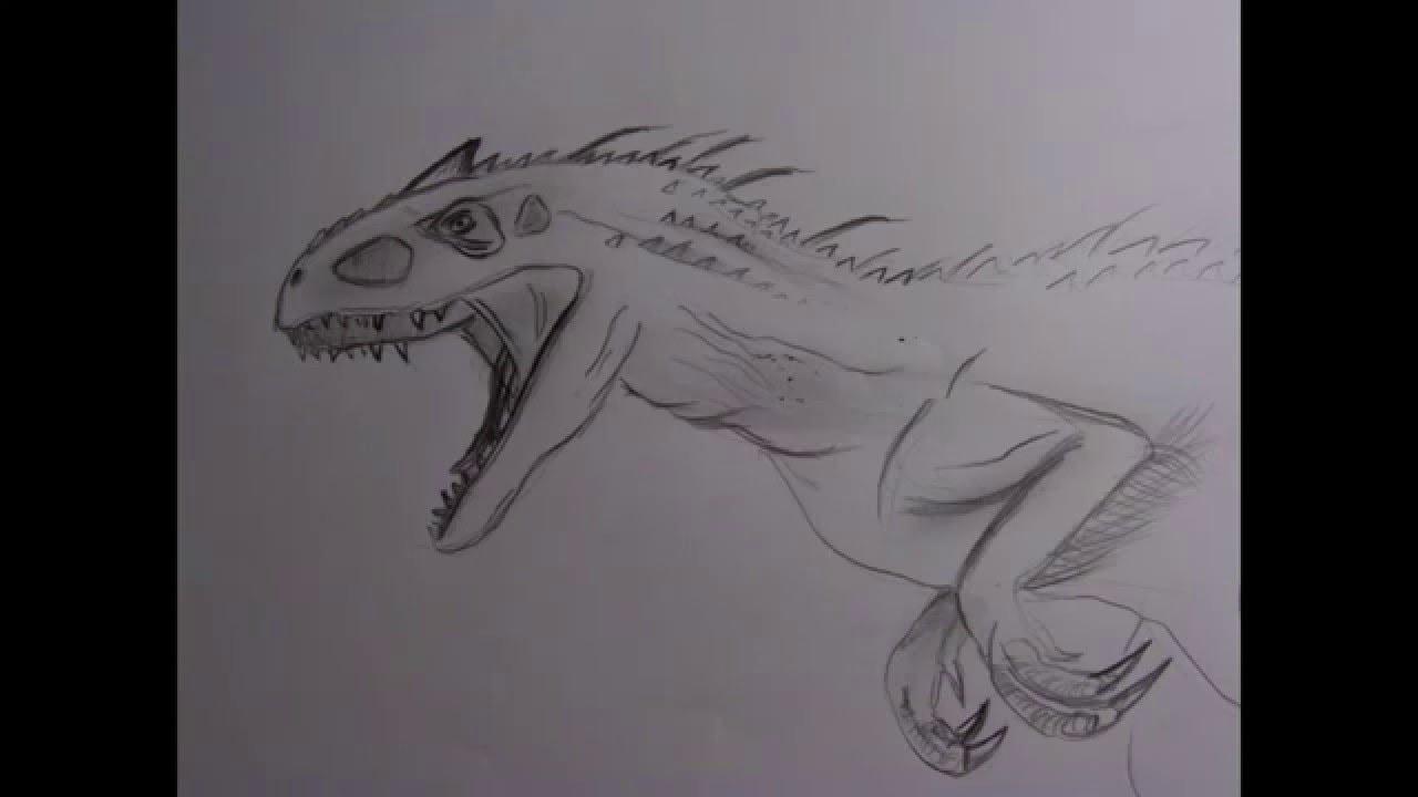 indominus rex speed drawing youtube