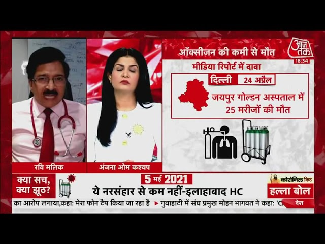 Demand of fair investigation on deaths due to oxygen deficiency, Dr. Ravi Malik on Aaj Tak