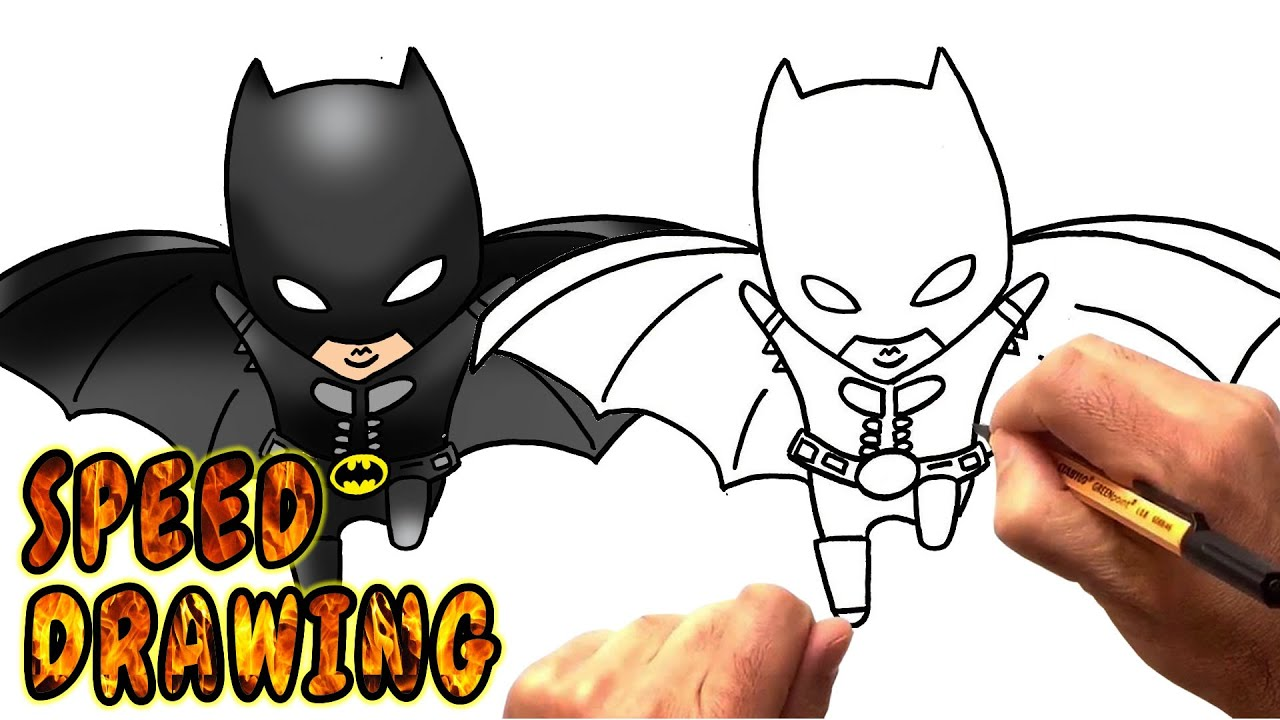 How to draw batman easy drawingnow - How To Draw Chibi Batman Speed Drawing Drawingnow