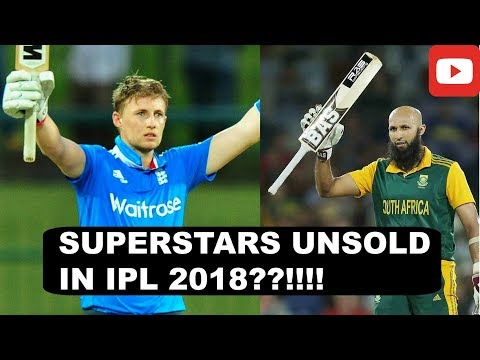 IPL 2018 - The Players that went unsold in the IPL!! (IPL 2018 Auction)