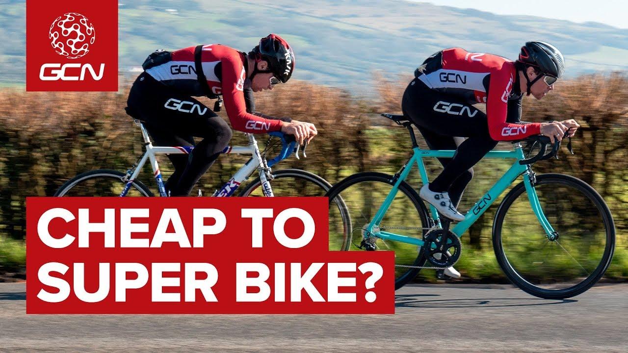 Carbon Fiber Frame Road Racing Bikes For Sale Ebay >> Did We Turn A Cheap Bike Into A Super Bike Gcn S Ebay Challenge