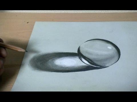鉛筆画ガラス玉を描いてみた 水晶 How To Draw A Glass Ball Youtube