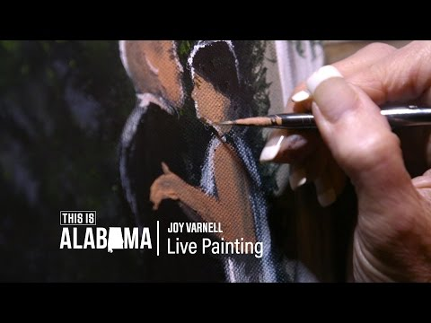 Alabama artist captures weddings with extraordinary live painting