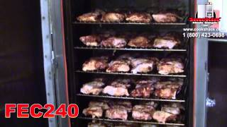 Smoked Chicken Thighs in the FEC240