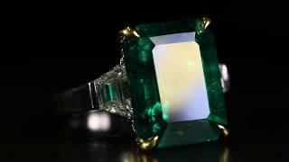 Jewellery House of MaximiliaN London. Colombian Emerald & Diamond Ring