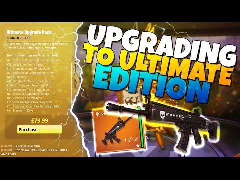 UPGRADING To The ULTIMATE EDITION! | Fortnite Save The World