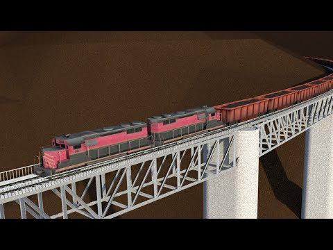 Train accident animation model created using 3ds max