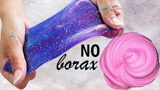 Testing NO BORAX Slime Recipes! How To Make Slime Without Borax