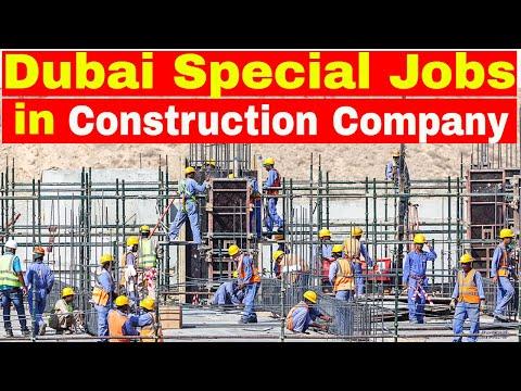 DUBAI Huge Construction Company Needs Many Professionals || Jobs In Dubai