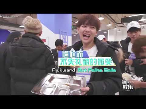 [ENG] 20180202 Idol Producer - You Zhangjing & Lin Yanjun Canteen Tour