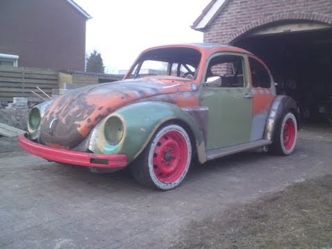 VW Super Beetle FIRST START with WRX STI turbo engine in VW bug  of the...