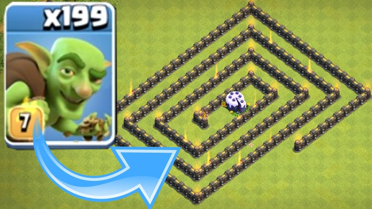"""ALL GOBLINS VS. 1 CAKE """"Clash Of Clans"""" FINAL CAKE MAZE RACE!"""
