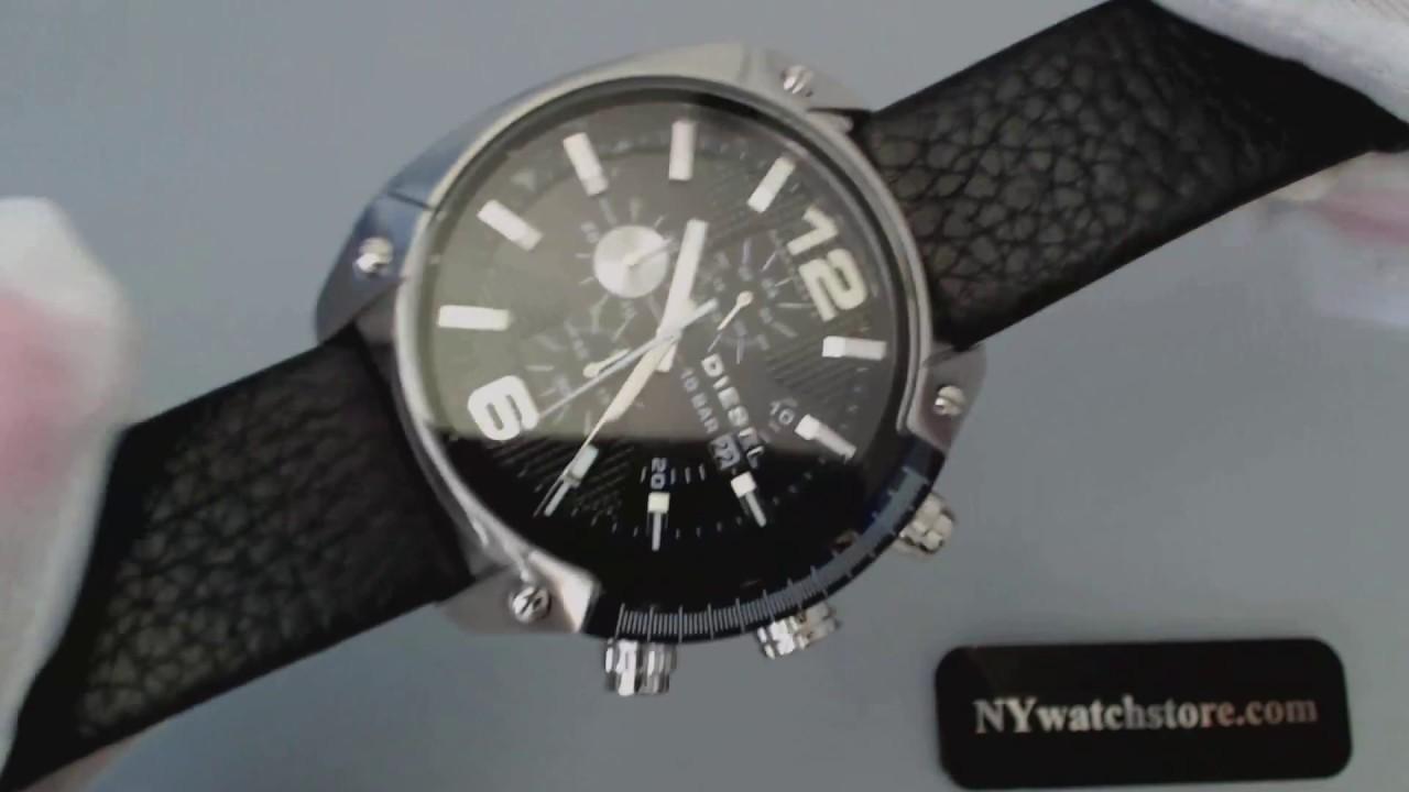 bbf0392085c Men s Diesel Overflow Chronograph Leather Strap Watch DZ4341 - YouTube