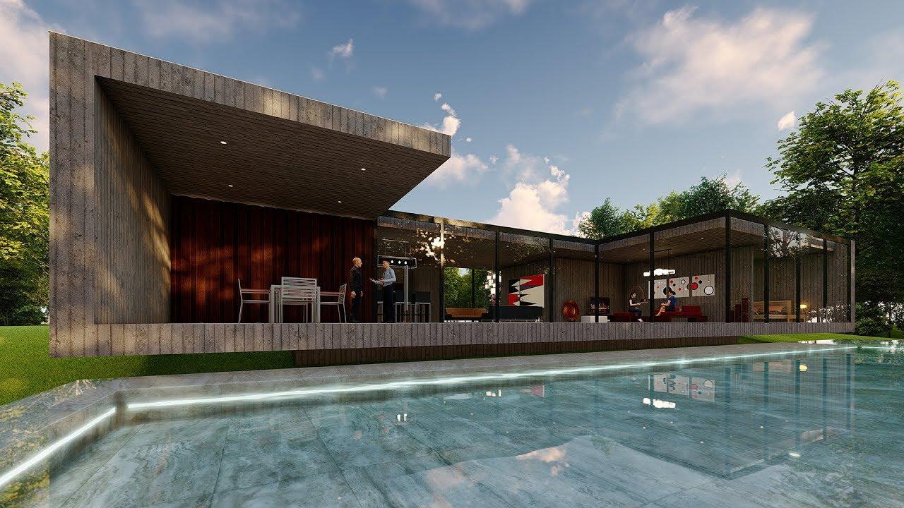 Lumion 8 pro render modern house10