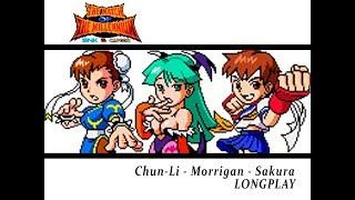 SNK vs Capcom - Match of The Millenium [NGP] Story Mode - Chun-Li, Morrigan & Sakura