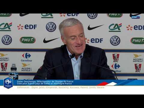 Jeudi 2 novembre à 14h00 : Conférence de Didier Deschamps, le replay I FFF