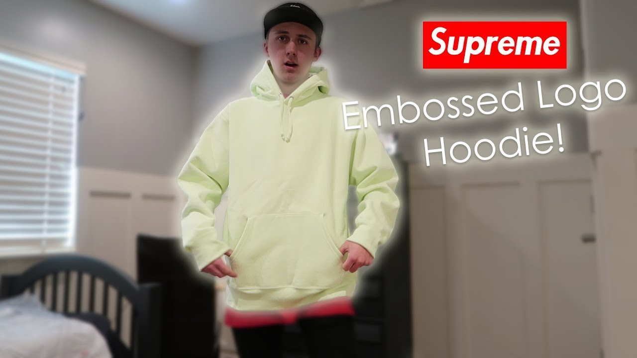 5949b60ce1c8d Supreme Pale lime Hoodie Unboxing and Preview - YouTube