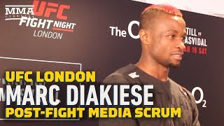UFC London: Marc Diakiese Feeling 'Relief' After Emotional Win Over Joseph Duffy - MMA Fighting