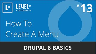 Drupal 8 Basics #13 - How To Create A Menu(, 2016-04-18T18:09:24.000Z)