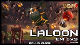 LALOON em Guerra contra CV9 - Terror Aéreo - Clash of Clans - Bruno Clash