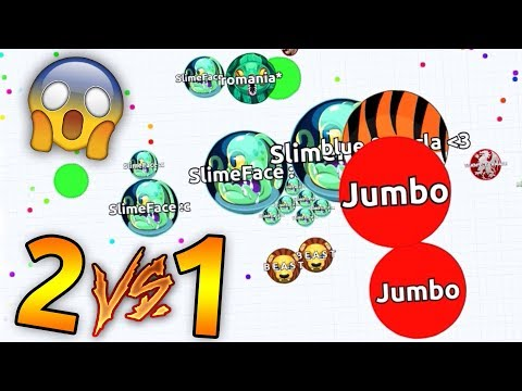 I ALMOST DIED IN AGARIO 2 VS 1 !! ( Agar.io Solo Gameplay )