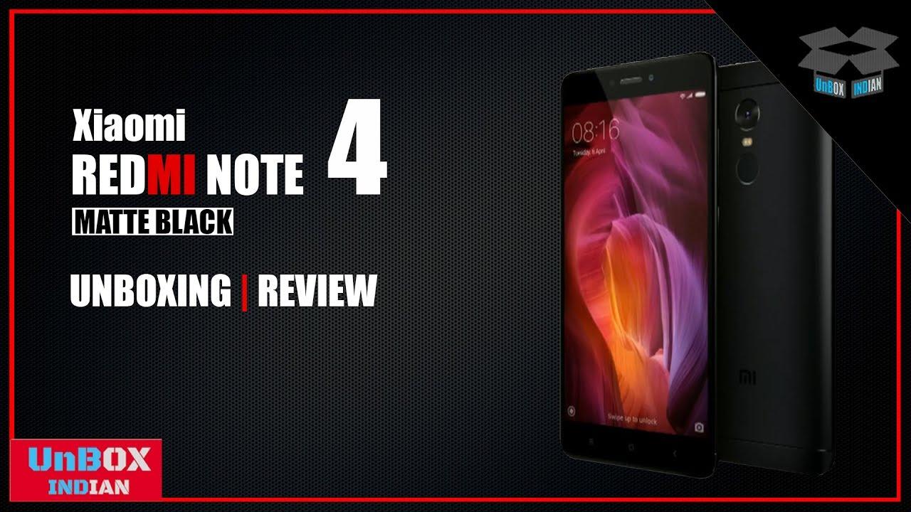 Redmi Note 4 Unboxing: Xiaomi Redmi Note 4 [Matte Black] Unboxing & Hands-On