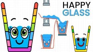 Happy Glass - Gameplay Walkthrough Part 5 - Level 136-180 Full Gameplay