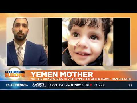 Yemen mother arrives in US to visit dying son after travel ban relaxed | #GME