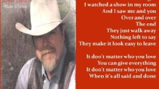 Dan Seals - It Dont Matter Who You Love ( + lyrics 2002) YouTube Videos