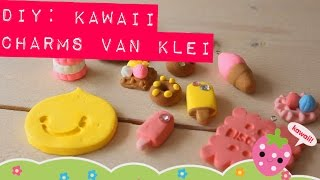 D.I.Y: Kawaii charms klei tutorial - MostCutest.nl airdry clay