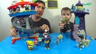 Scooby Doo vs Paw patrol Щенячий патруль башня против Скуби-Ду маяк  Секреты в фигурках