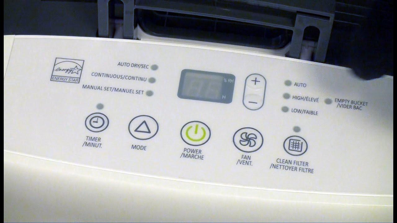 unboxing a 50-pint Garrison Dehumidifier, model no 043-6119-2