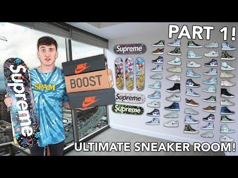Building The ULTIMATE Sneaker Room/Hypebeast Studio PART 1!