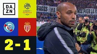 Thierry Henry verliert bei Trainer-Debüt für Monaco: RC Straßburg - AS Monaco 2:1 | Ligue 1 | DAZN