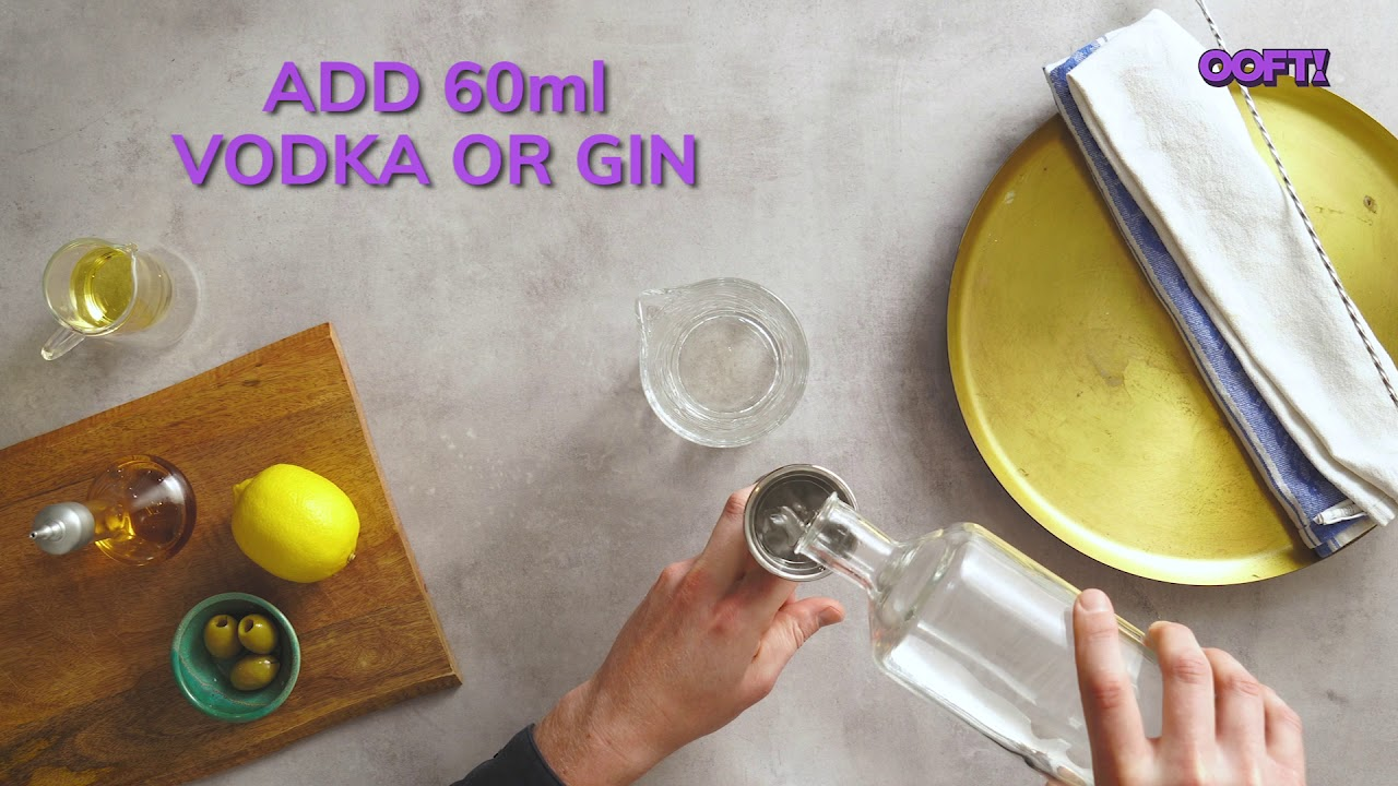 How to mix The Martini Cocktail at home.