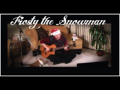 Frosty the Snowman - Fingerstyle Guitar with Lyrics (Gene Autry) - Scott Pettipas