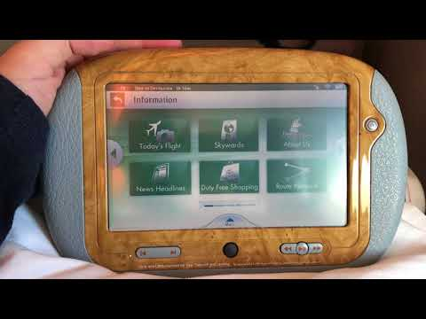 Emirates wireless seat and IFE control